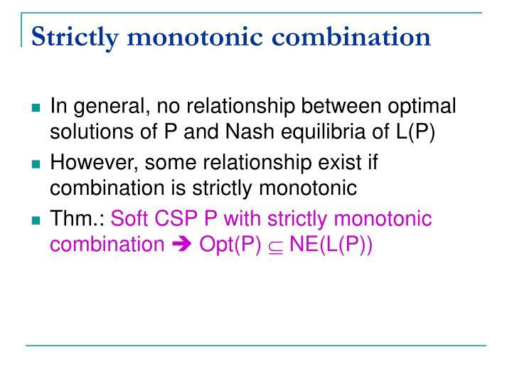 Strictly monotonic combination