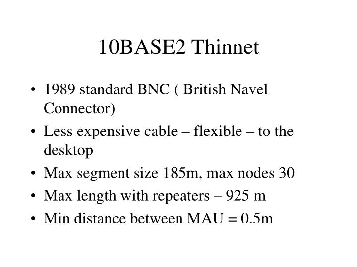 10BASE2 Thinnet