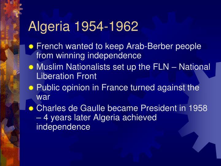 Algeria 1954-1962