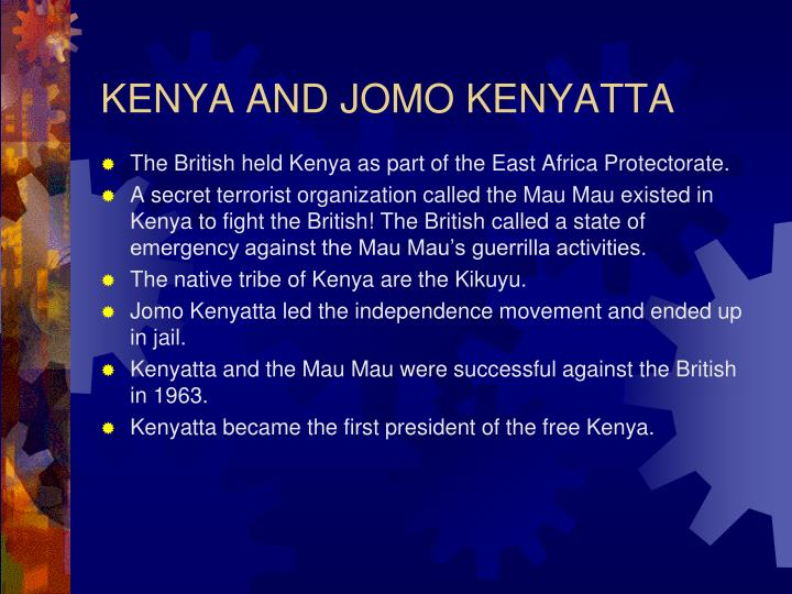 KENYA AND JOMO KENYATTA