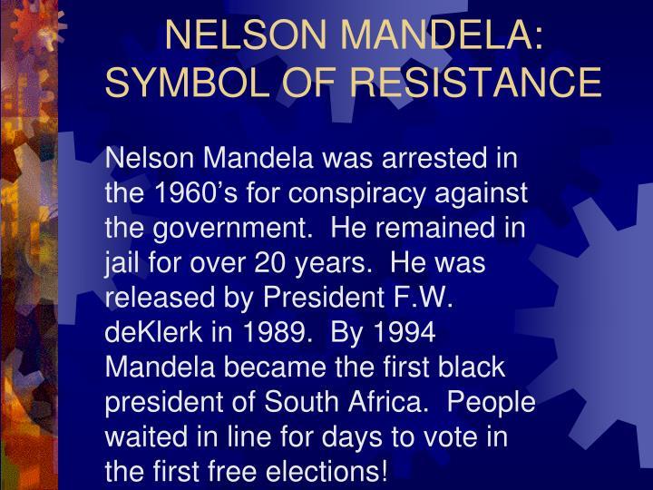 NELSON MANDELA: SYMBOL OF RESISTANCE