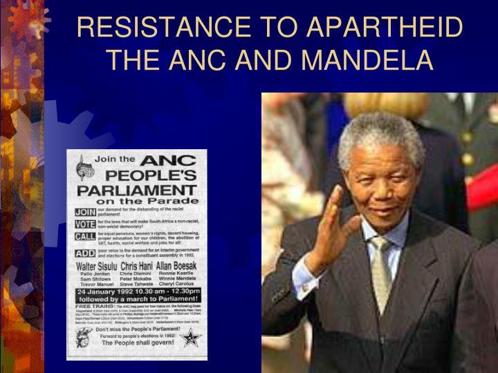 RESISTANCE TO APARTHEID
