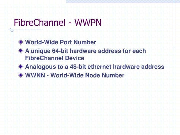 FibreChannel - WWPN