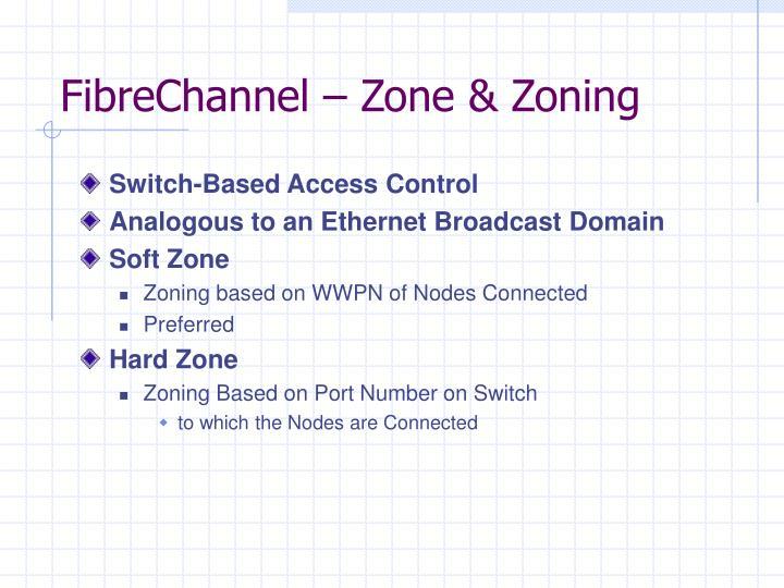 FibreChannel – Zone & Zoning