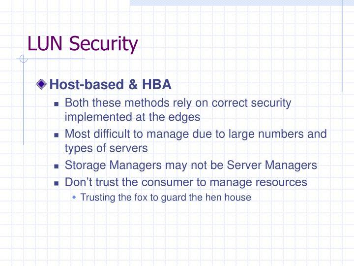 LUN Security