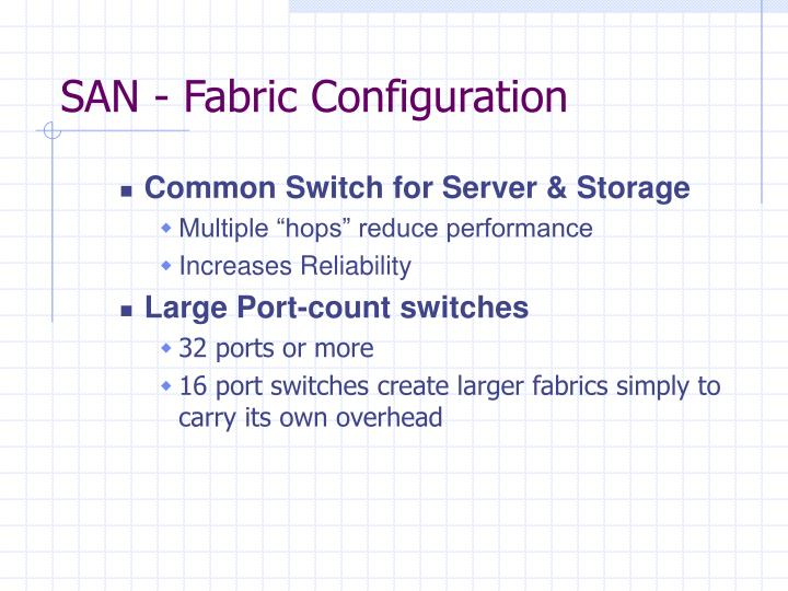 SAN - Fabric Configuration