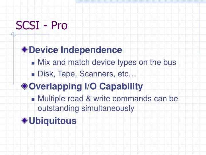 SCSI - Pro