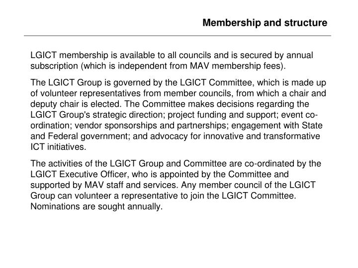 Membership and structure