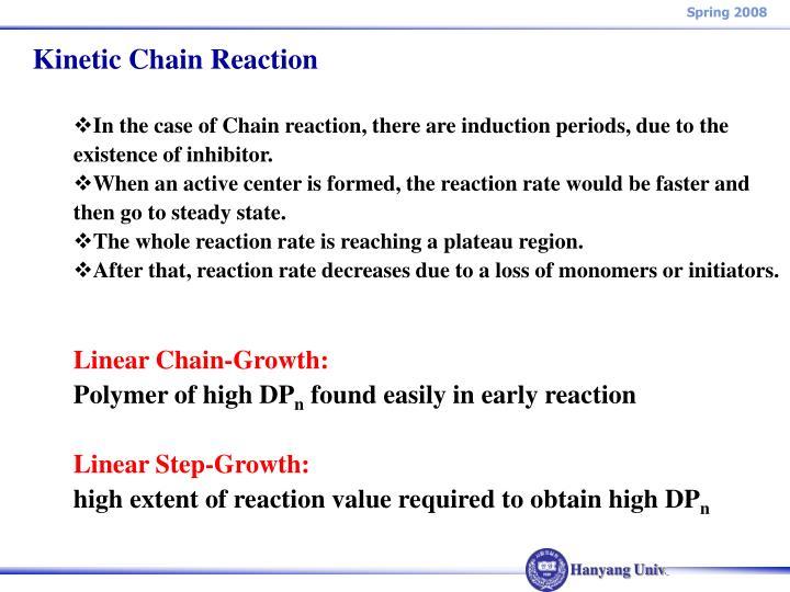 Kinetic Chain Reaction
