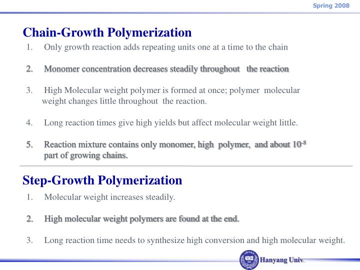 Chain-Growth Polymerization