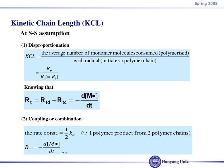 Kinetic Chain Length (KCL)