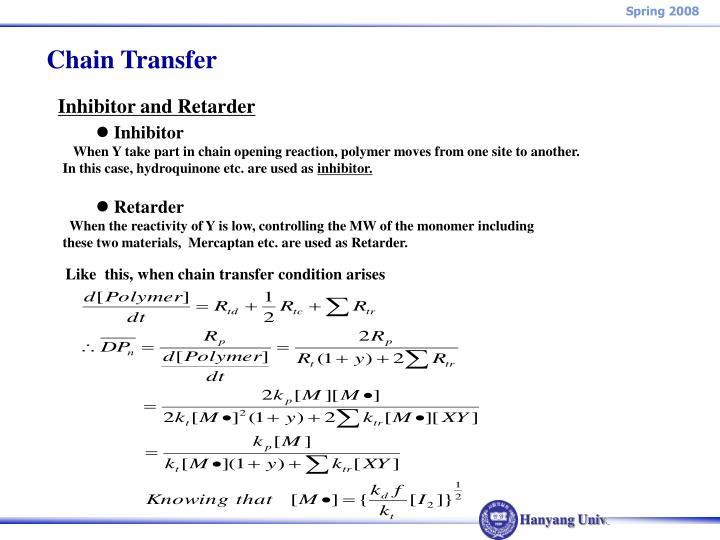 Chain Transfer