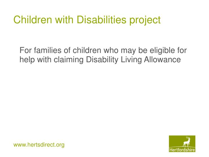 Children with Disabilities project