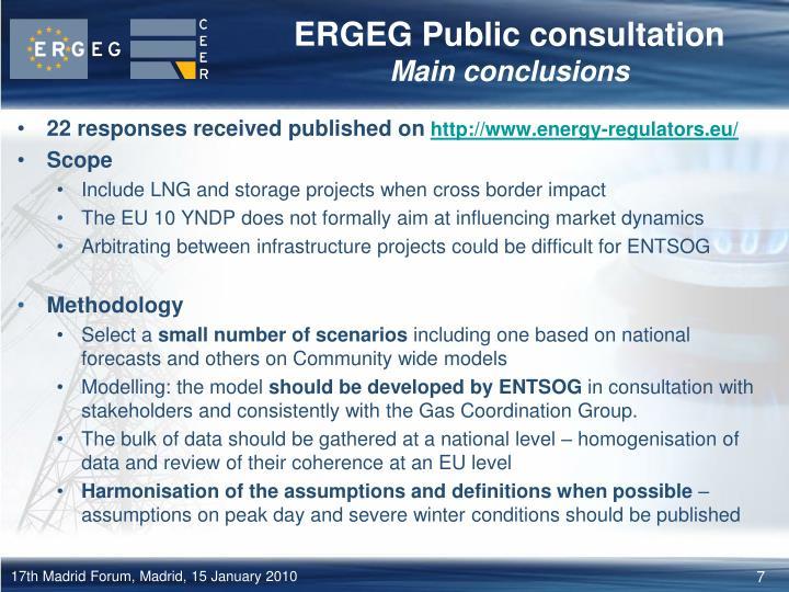 ERGEG Public consultation