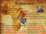 the belgian colonies