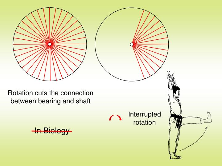 Rotation cuts the connection between bearing and shaft
