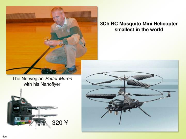3Ch RC MosquitoMini Helicopter smallest in the world