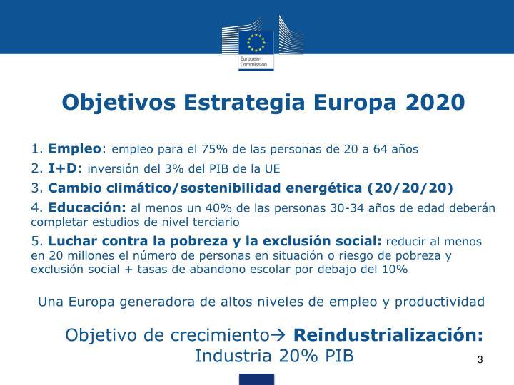 Objetivos estrategia europa 2020