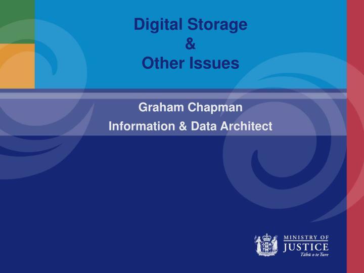 digital storage other issues n.