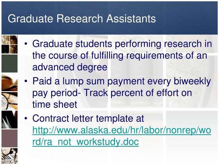 Graduate Research Assistants
