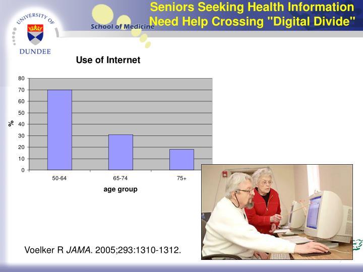 """Seniors Seeking Health Information Need Help Crossing """"Digital Divide"""""""