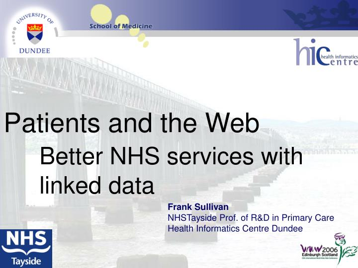 Patients and the Web