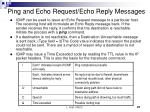 ping and echo request echo reply messages
