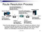 route resolution process