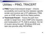 utilities ping tracert