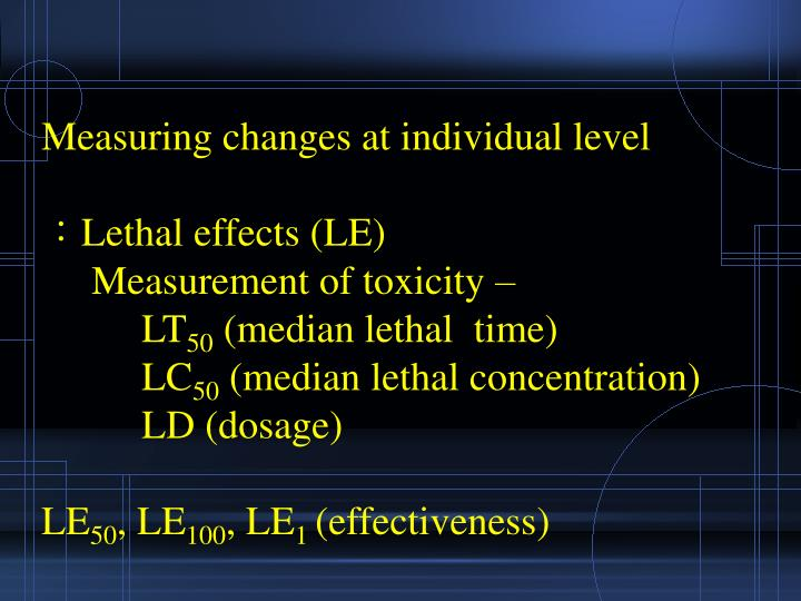 Measuring changes at individual level