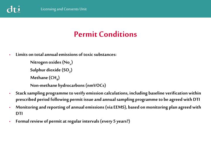 Permit Conditions