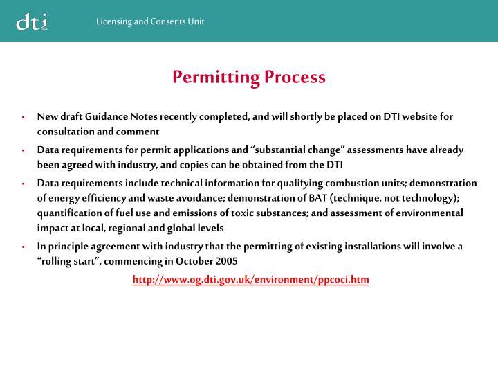 Permitting Process