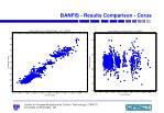 banfis results comparison corus