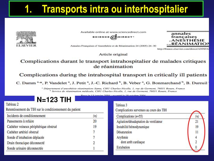 Transports intra