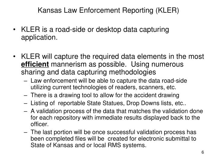 Kansas Law Enforcement Reporting (KLER)