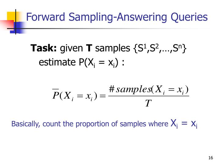 Forward Sampling-Answering Queries