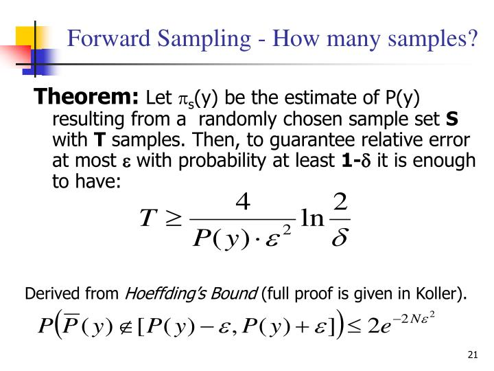 Forward Sampling - How many samples?