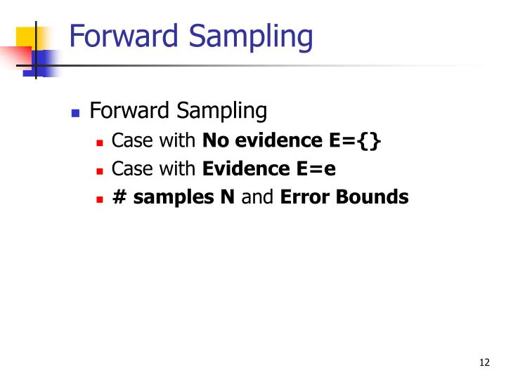 Forward Sampling