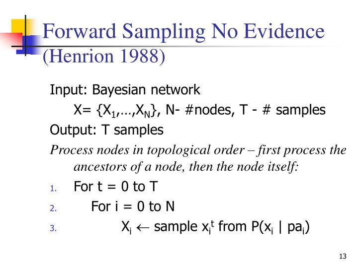 Forward Sampling No Evidence