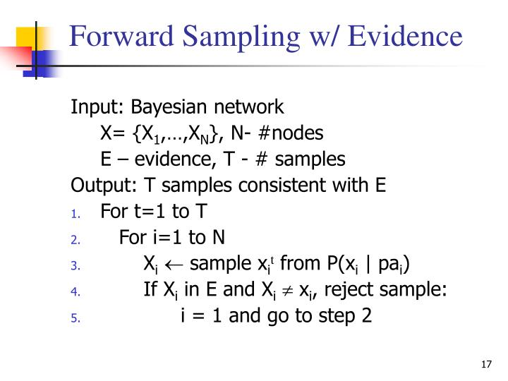 Forward Sampling w/ Evidence