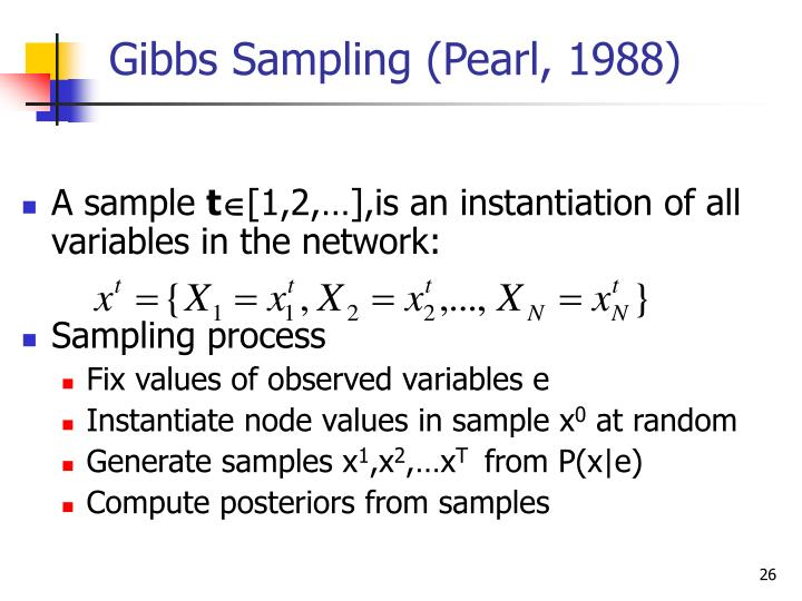 Gibbs Sampling (Pearl, 1988)