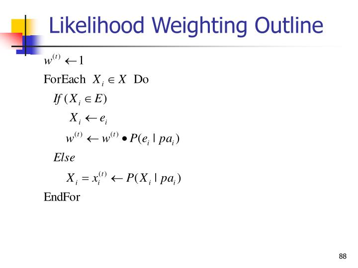 Likelihood Weighting Outline
