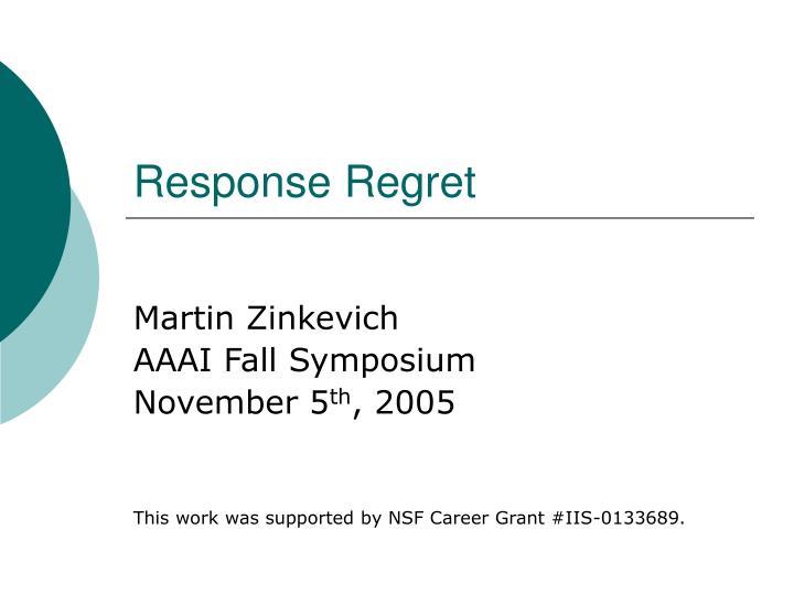 response regret n.