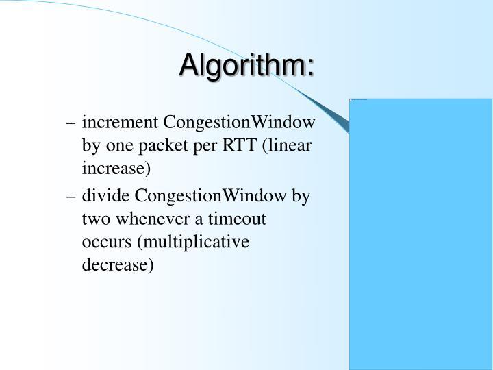 Algorithm: