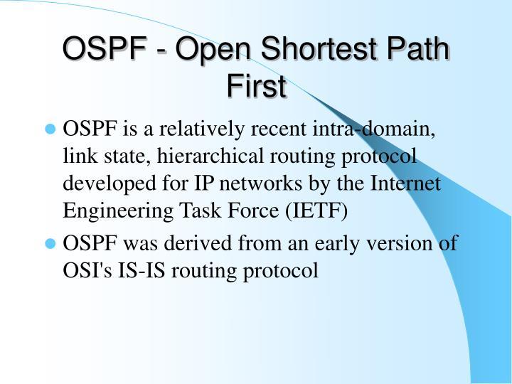 OSPF - Open Shortest Path First