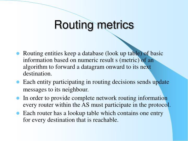 Routing metrics