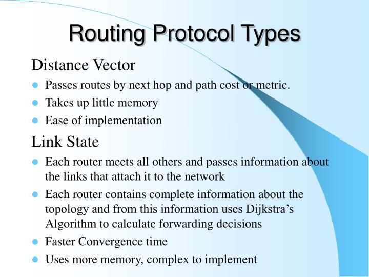 Routing Protocol Types