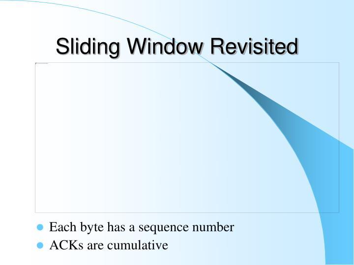 Sliding Window Revisited