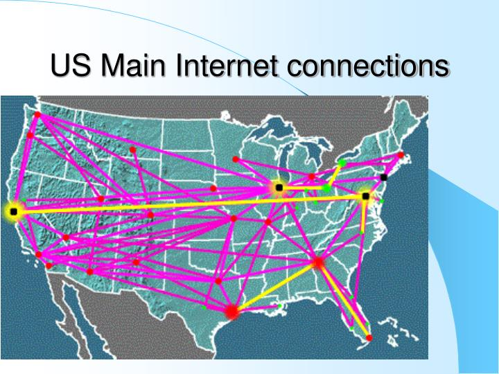 US Main Internet connections