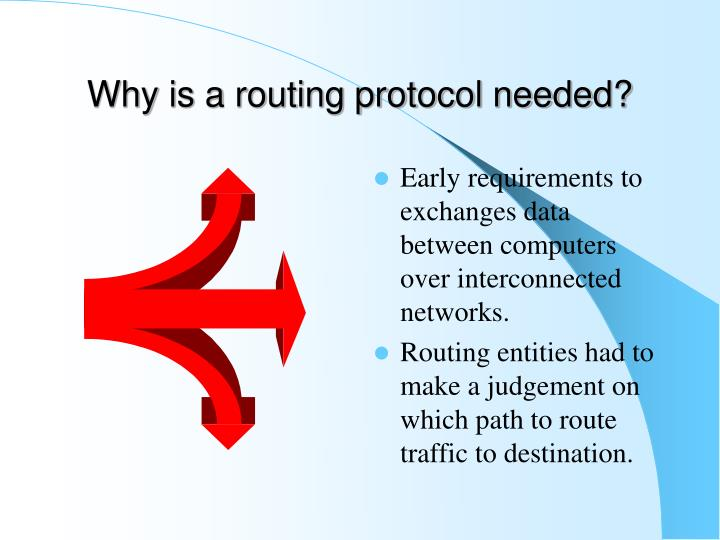 Why is a routing protocol needed?